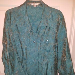 Erin 3/4 sleeve blouse 1X